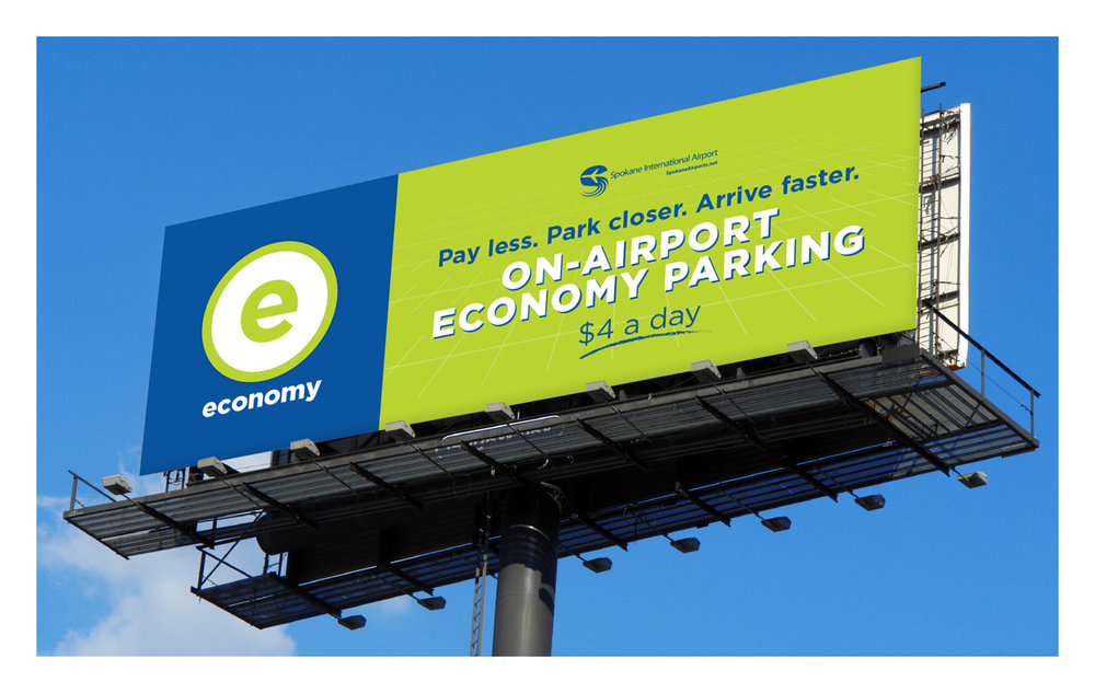 Spokane International Airport Parking Branding and Identity Integrated Campaign