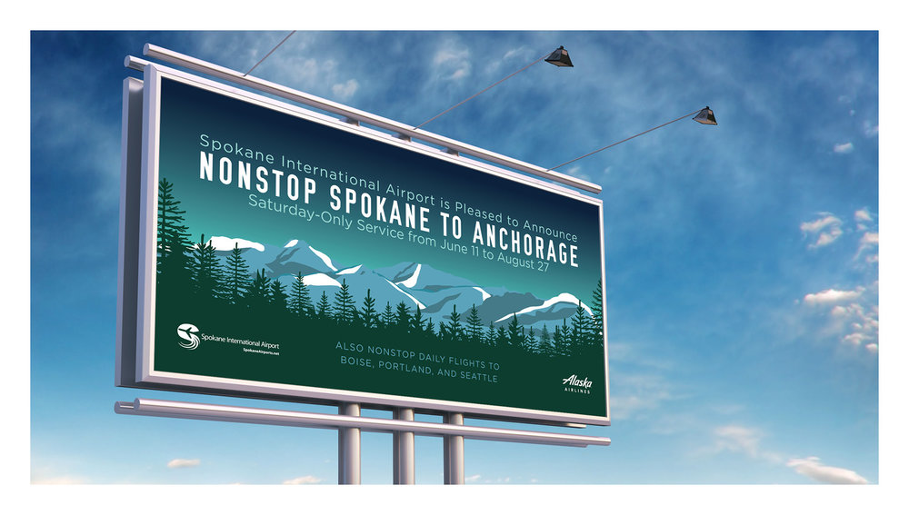 Spokane International Airport Nonstop to Alaska Integrated Creative Campaign
