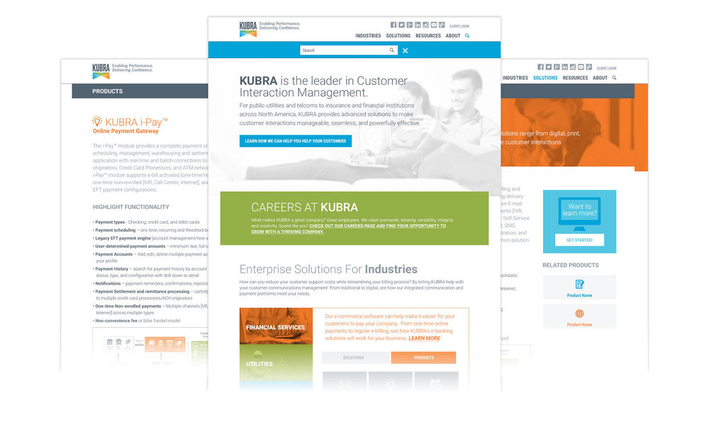 KUBRA Corporate Website Integrated Campaign Creative web design