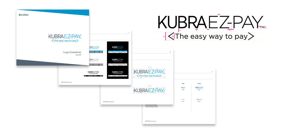 KUBRA EZ-PAY Integrated Campaign Creative logo design style guide