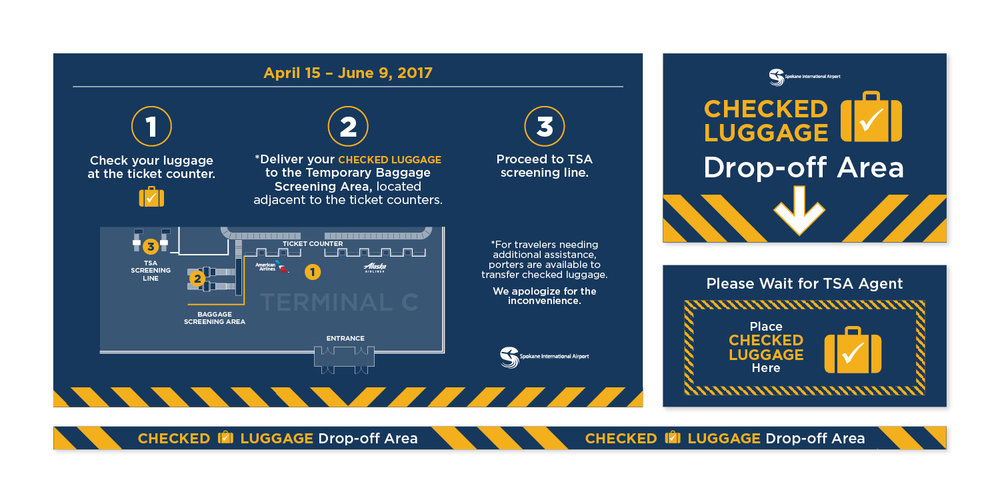 Spokane International Airport Maps and Signage Integrated Campaign