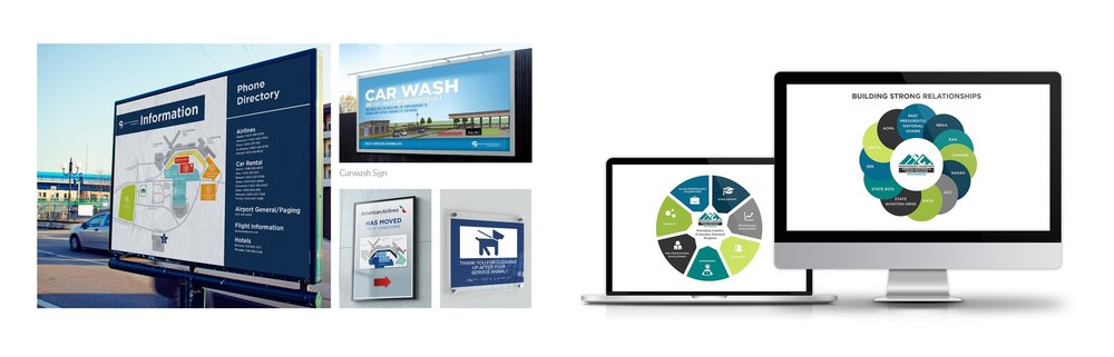 Various Signage and Presentation Graphics