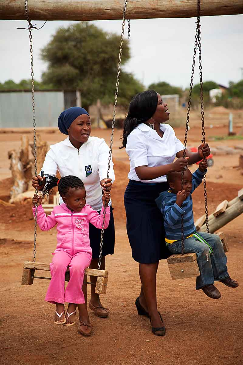 In South Africa, CARE supports a facility that cares for HIV positive children and HIV orphans.