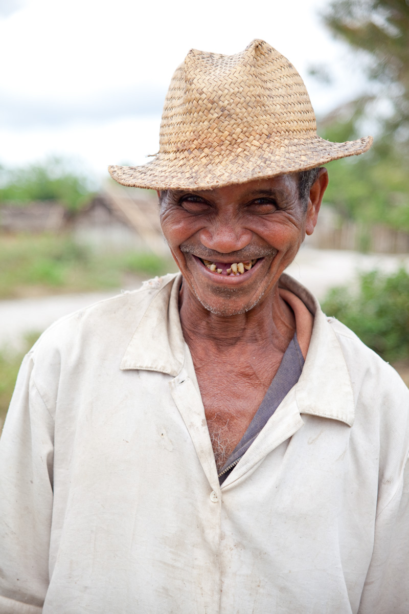 Touring a sanitation facility with CARE Madagascar, I met this super friendly village resident with a smile to remember.