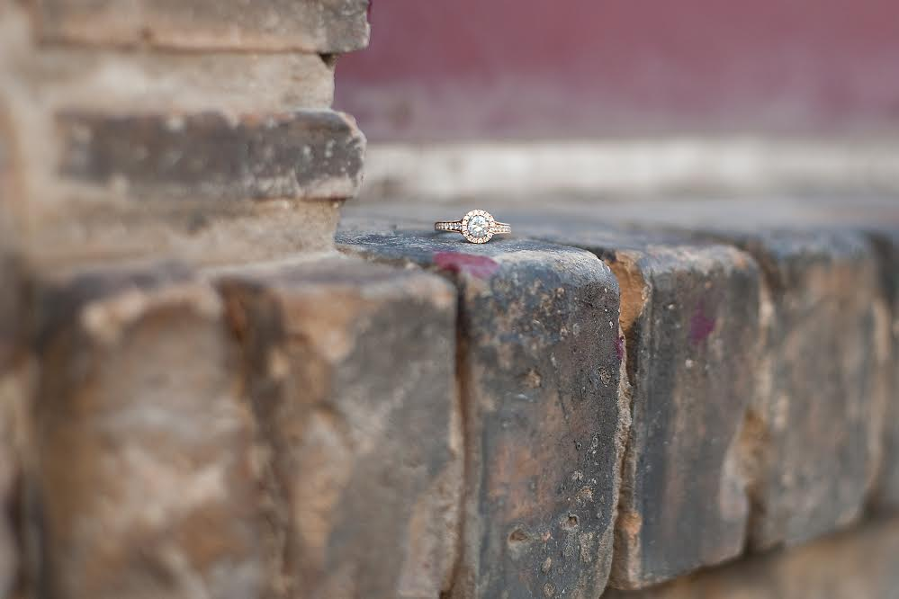 Amy's rose-gold  Zeghani  engagement ring can be found here.
