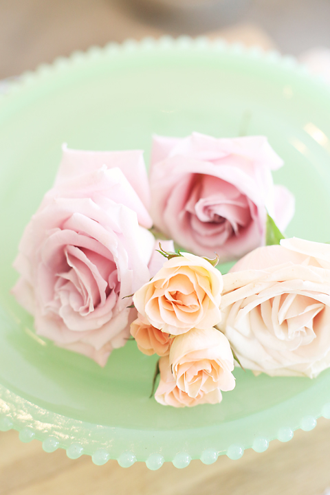 Jill chose these gorgeous roses in the most beautiful hues.