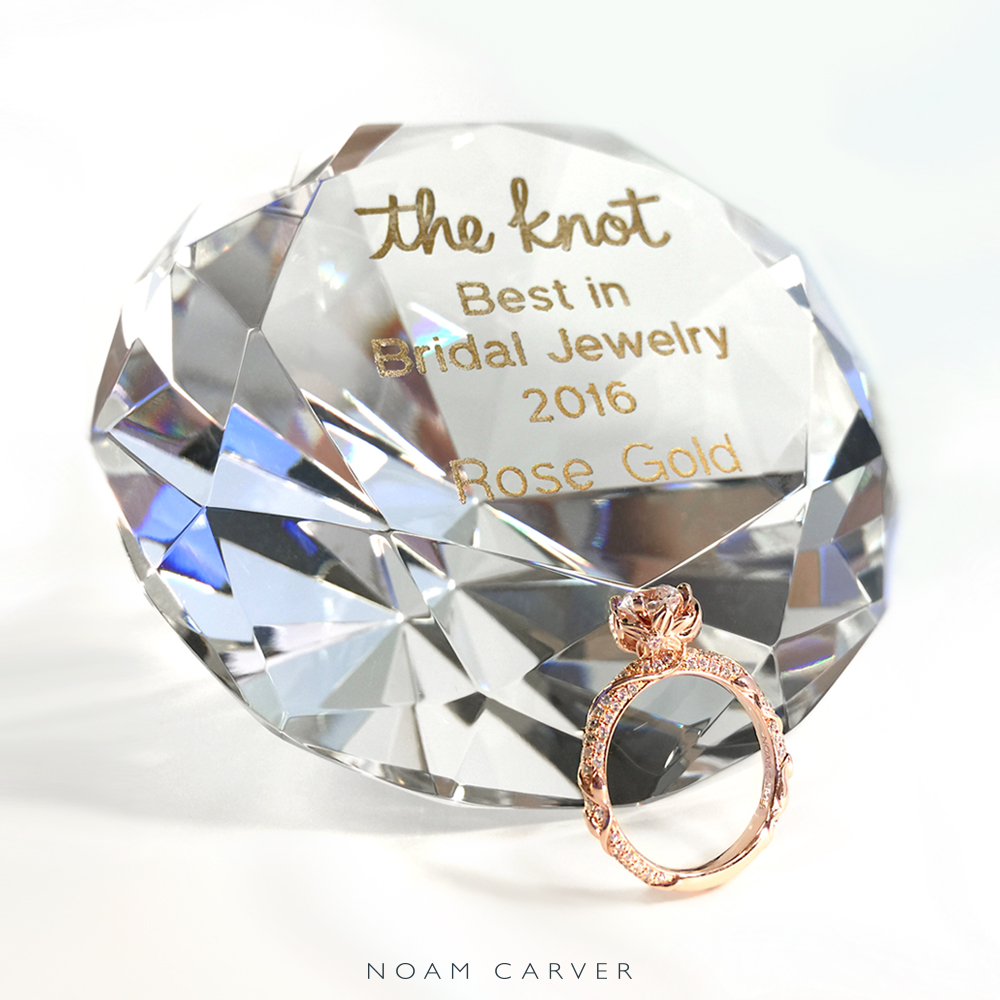 Noam was recently awarded the Best in Bridal Jewelry 2016 in the Rose category by The Knot.