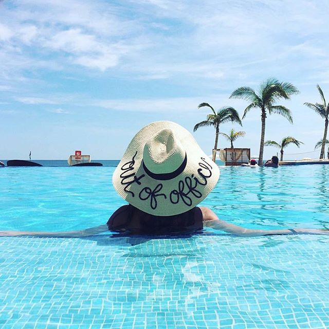We are so beyond excited that @prudeandboujee is getting married!! Thanks for taking us with you to Mexico!!! 🌞💍👒 . . . . . #outofoffice #outofofficehat #onvacay #poollounge #mexicotrip #loscabos #hyattzivaloscabos #loscabos #vacationstyle #hatstyle #vacaystyle #destinationwedding #hatfashion #whimthingshat #whimthings #sanjoseloscabos #mexicowedding #mexicanresort #sunhat #customhat #customhats