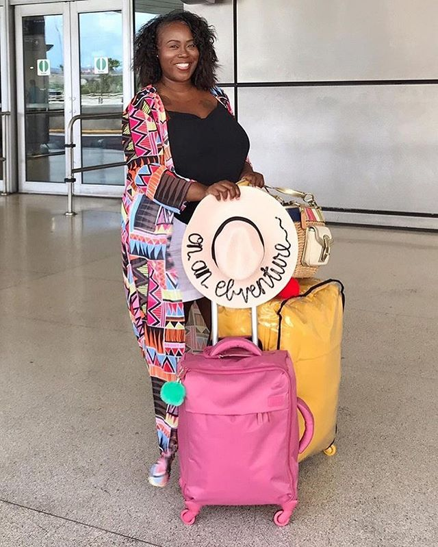 @ebventures has got the right idea...a custom whim things hat for her vacay! We are also lovin' that bright luggage! Anyone going on vacay this holiday season?! Get a pre made hat for 60% off until Wednesday 12/26 with code HOLIDAY60 👒👒👒🌴🌴🌴✈️✈️✈️ . . . . . #throwbackphoto #vacationbound #ebventures #ebventures2017 #vacaymode #holidayvacay #holidayvacation #sunhat #sunhats #vacaystyle #customhat #customhats #christmassales #christmastime #whimthings #whimthingshat #whimthingswanders