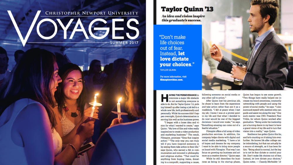 Voyages Magazine and Filmspire Article