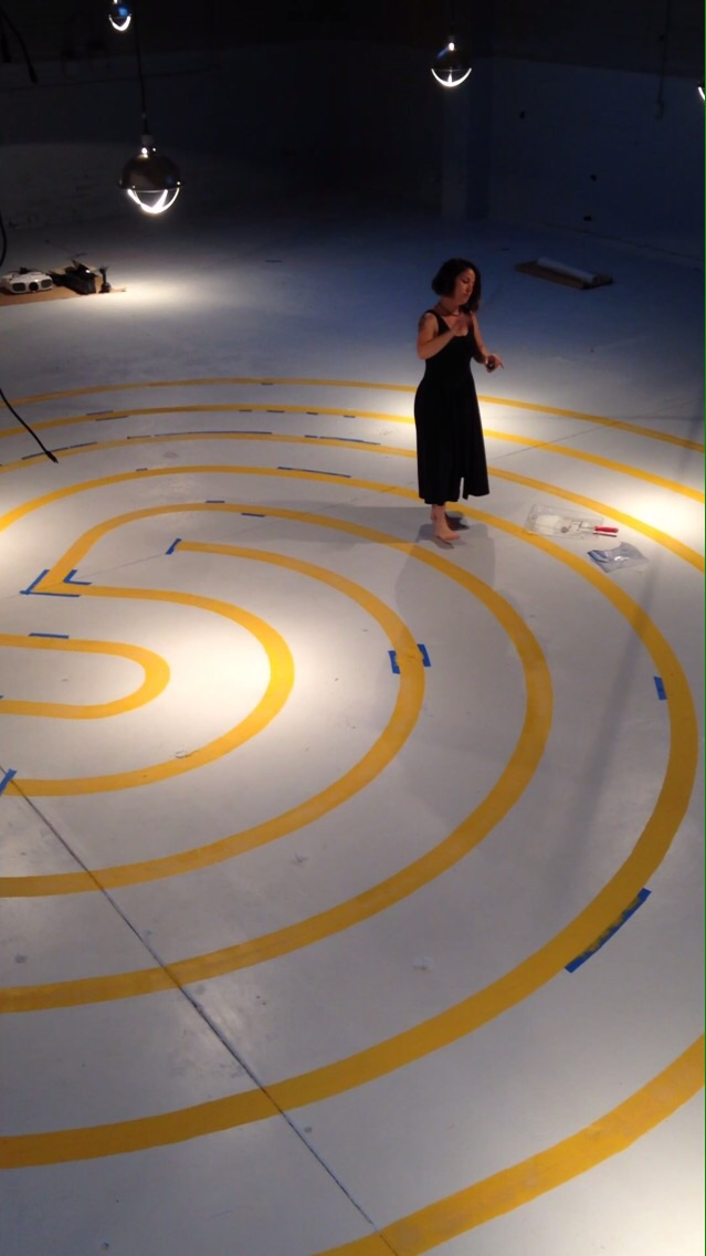 Katie Gelfand blesses the Labyrinth