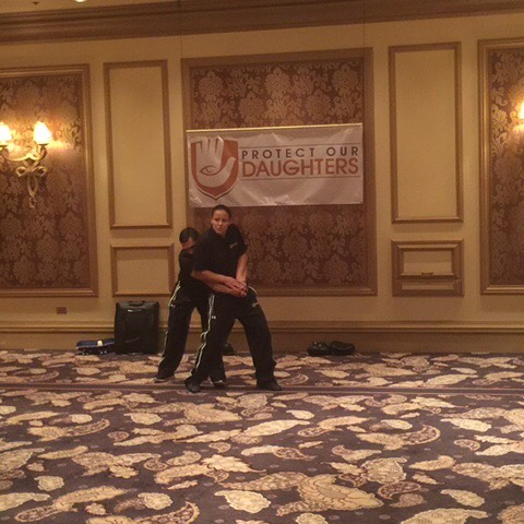 Our trainers demonstrate how to escape being grabbed from behind! This is a dangerous situation to be in, but with a few simple techniques, you can be back in control #protectourdaughters #womensempowerment #selfdefensetraining