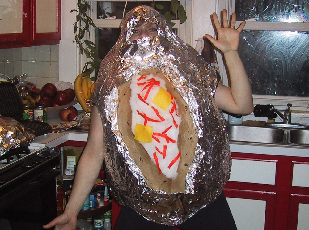 Me as a baked potato.