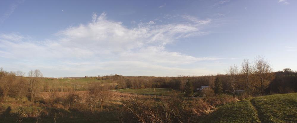 hill top view | Lewis Farms | April 2014