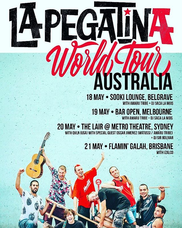 #FiestaTime Amigos @lapegatina touring #Australia #Izalco supporting the #brisbane leg! Hope to see you there #izalcoholics #music #musica #baile #instajoy #livemusic #rumba #ska #reggae #cumbia #latinos #latin #instamusic @troubadourmusic 🤘✌👍