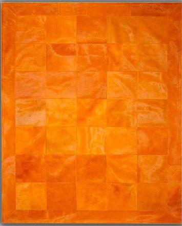 Tapis cuir orange