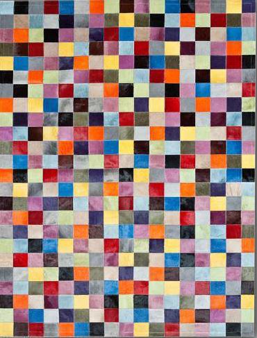 Tapis cuir patchwork