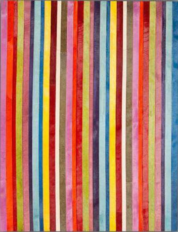 Tapis cuir code barre coloré