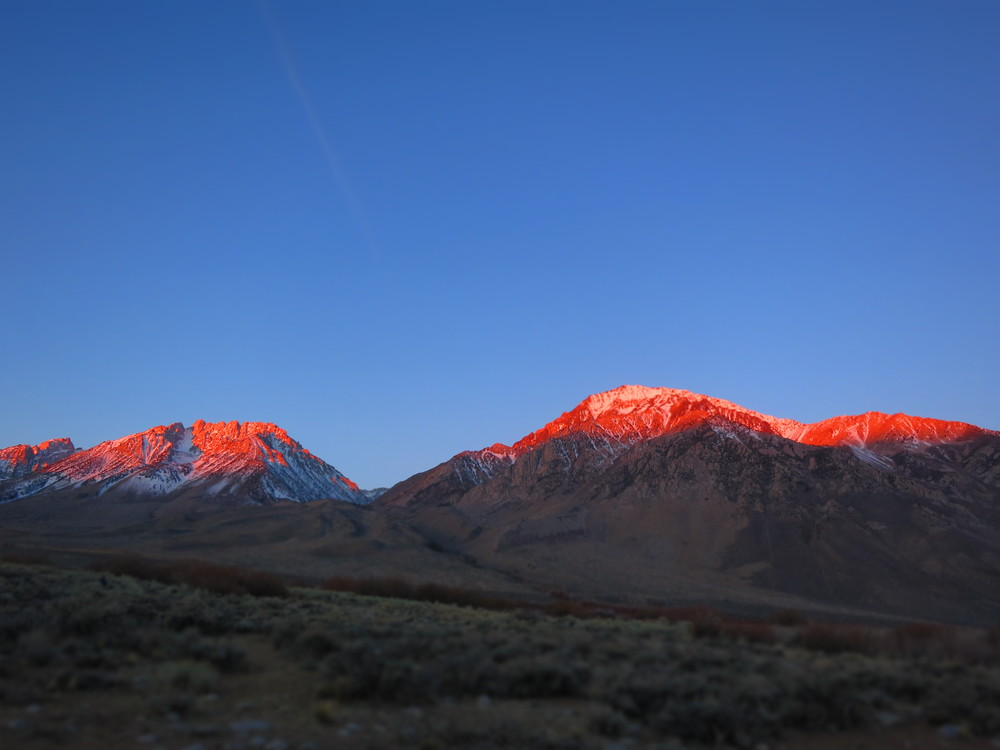 The Eastern Sierras sunset