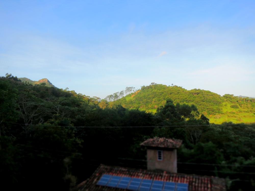 Morning at the Enchanted Mountain Yoga Center.