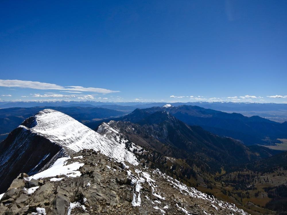 Bridger Mountains ridgeline
