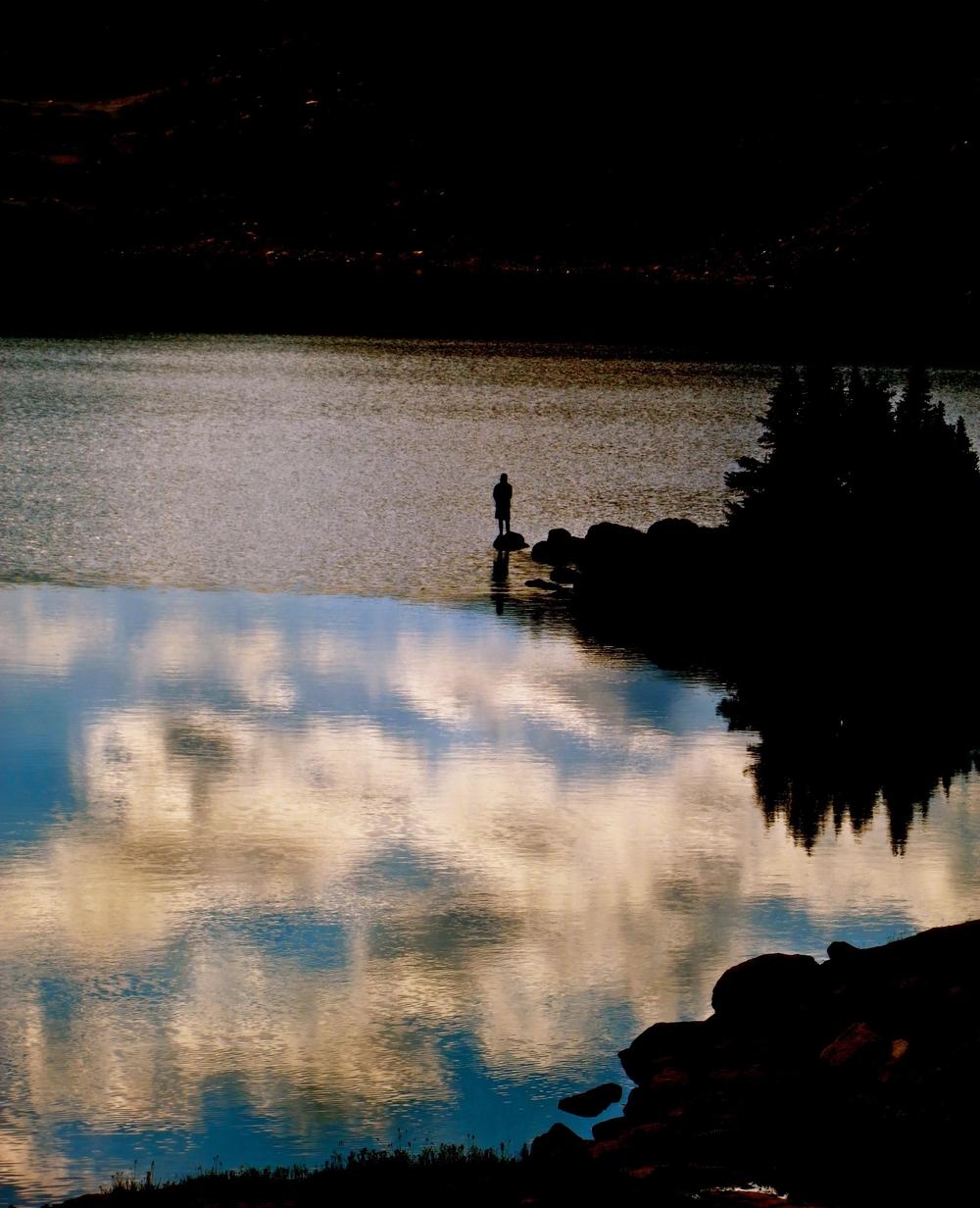 Jarred fishing Lower Aero Lake