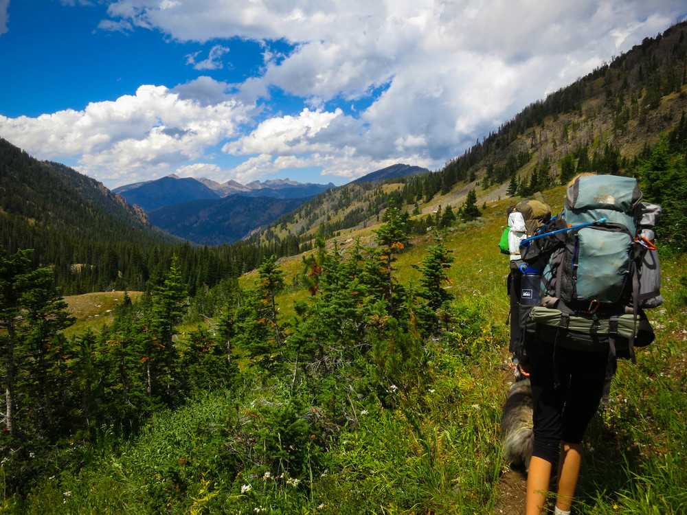 Hiking out of Sheep Lake. *Photo by Sarah Sjostedt