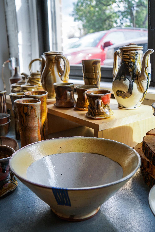 Ceramics for sale.