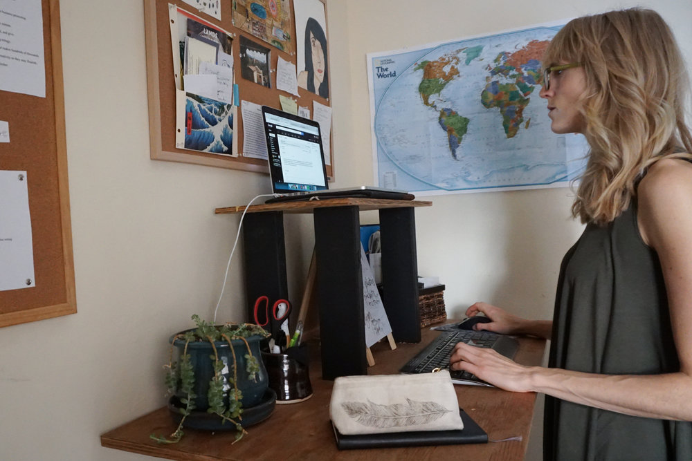 health and wellness at work standing desk