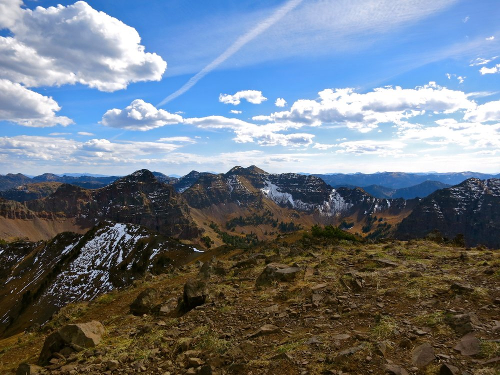 View from Blackmore Peak in the Gallatin-Custer National Forest.