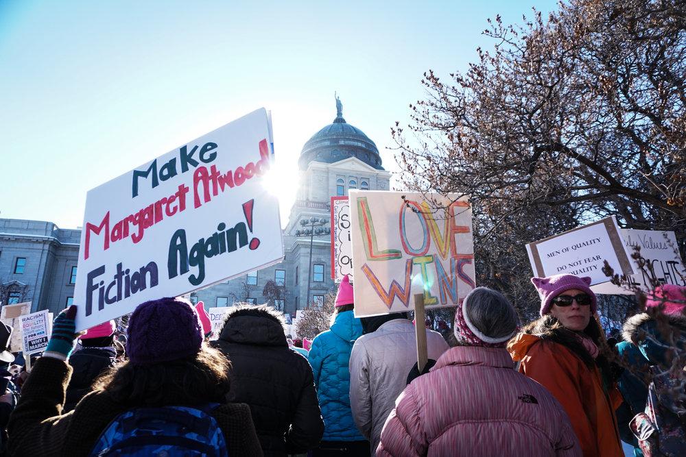 womens march helena montana love wins