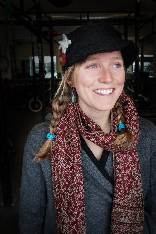 """Inge rocking her """"form"""" accessories."""