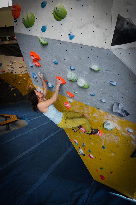 Strong women climbers