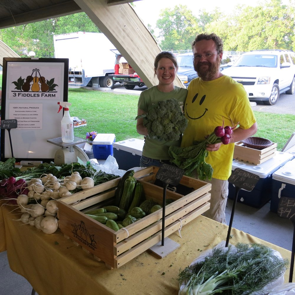 Matthew and Karin of Three Fiddles Farm in Bozeman: two of my favorite farmers.