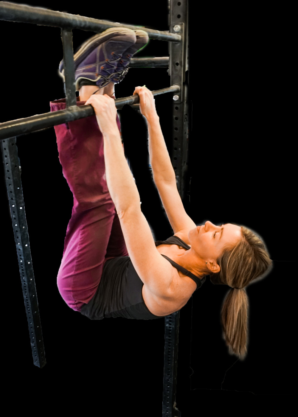 Strength training mother outdoors