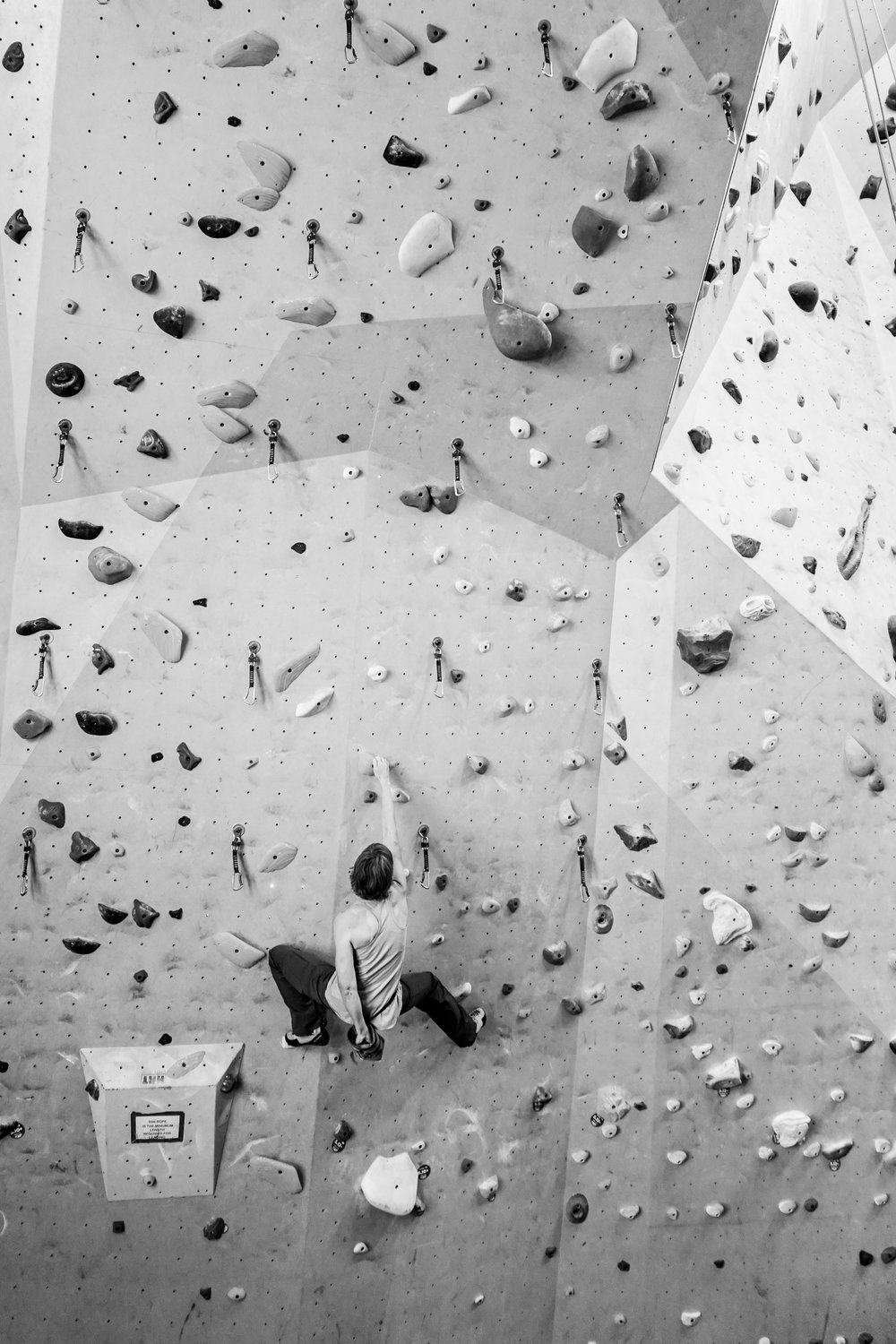 Strong woman climber in her 60s