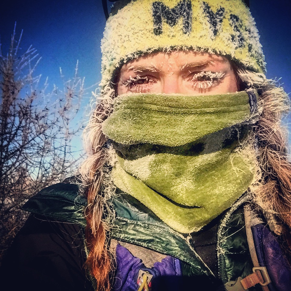 Blair enjoying her journey during a 30k race.