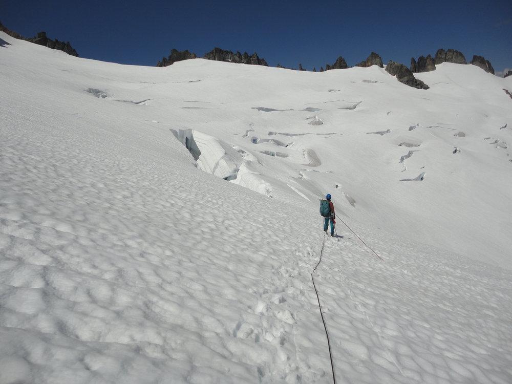 Rachel on Mount Baker. Photo by Martin Arteaga.