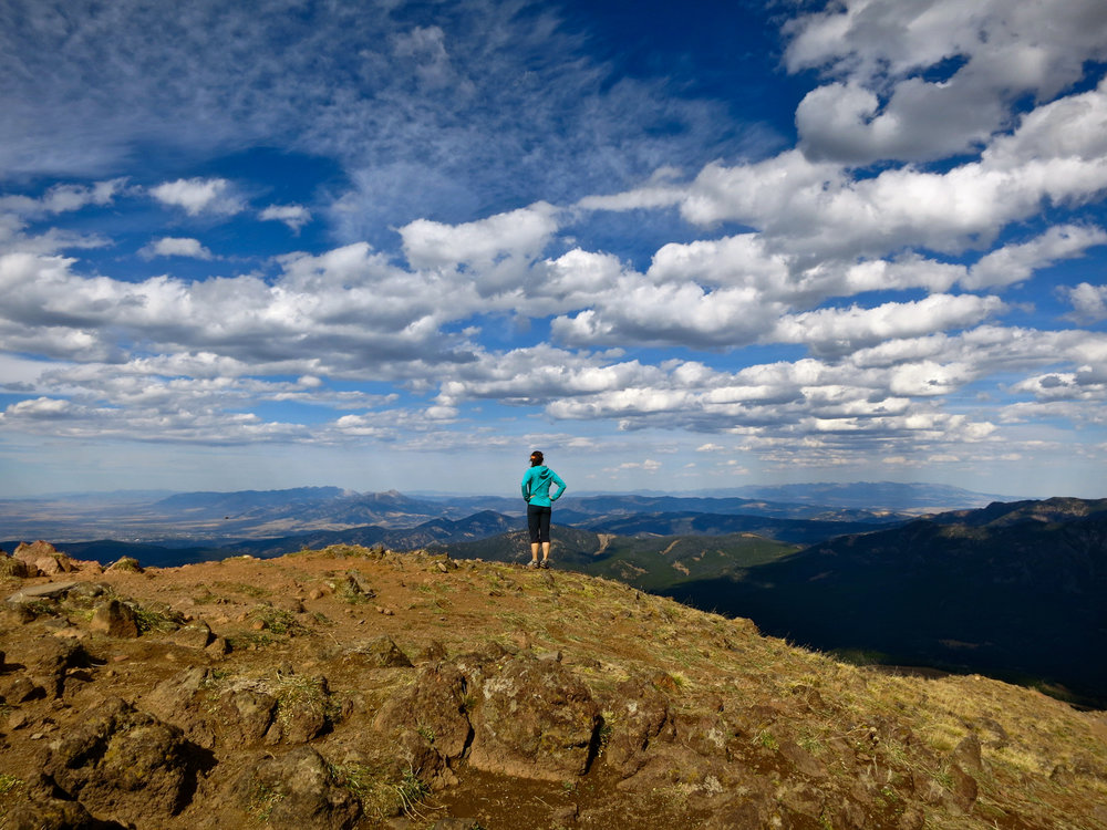 Leslie atop Blackmore Peak.