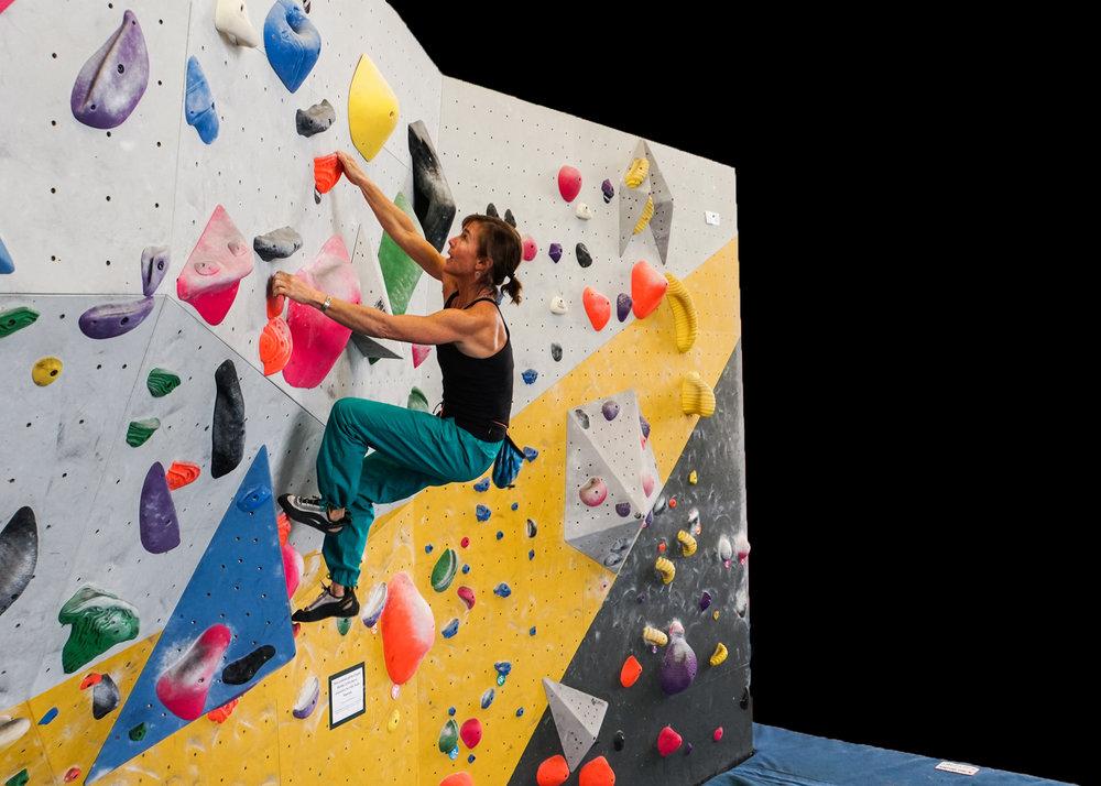 Jeannie Wall climbing Bozeman