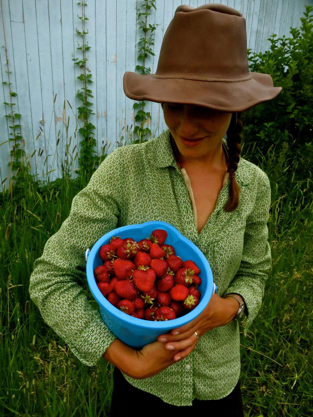 Anna Admires Strawberries.jpg