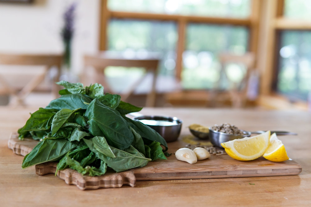 Pesto ingredients easy delicious recipe vegan