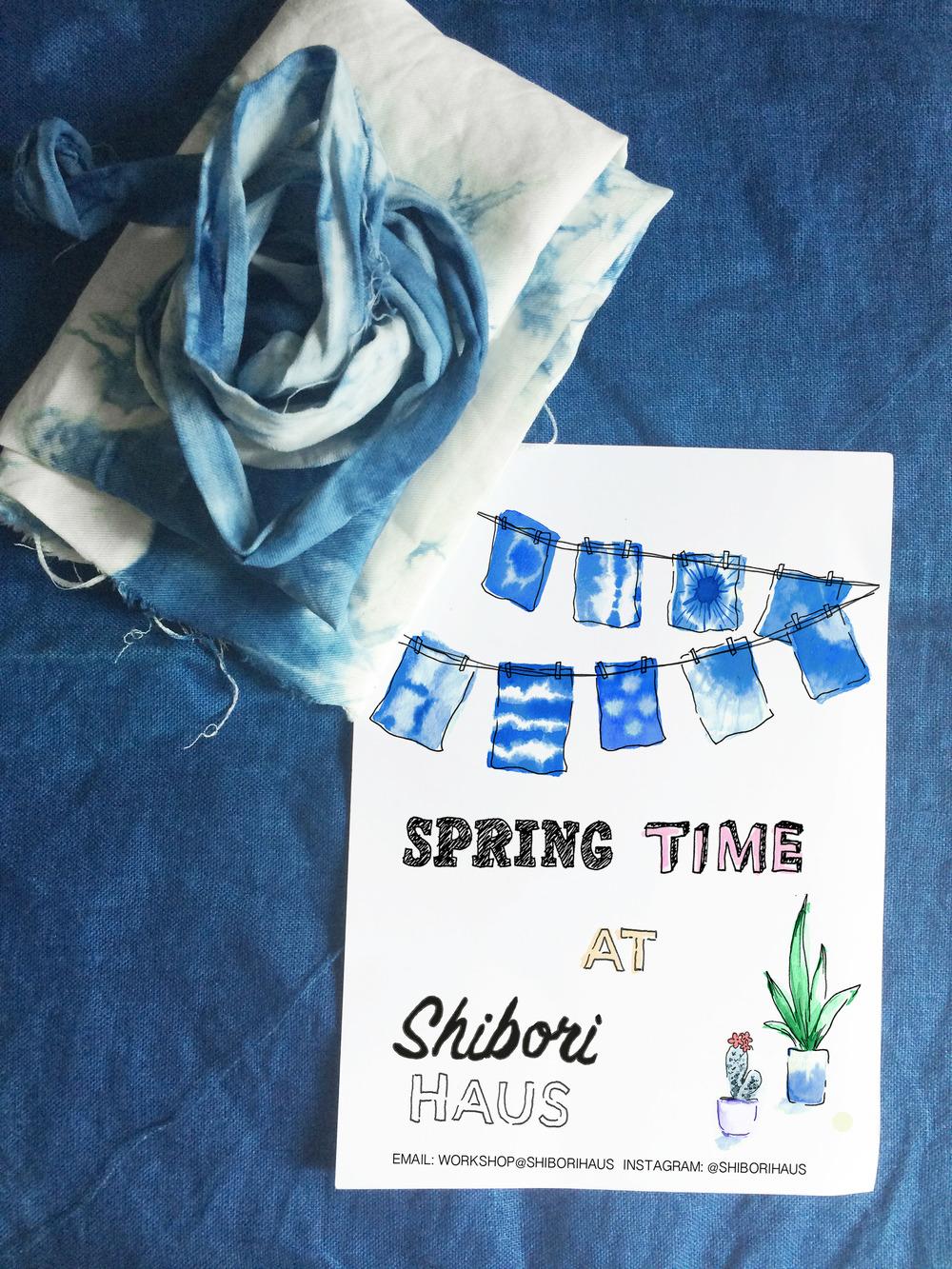 """""""SHIBORI HAUS"""" Spring Time Flyer"""