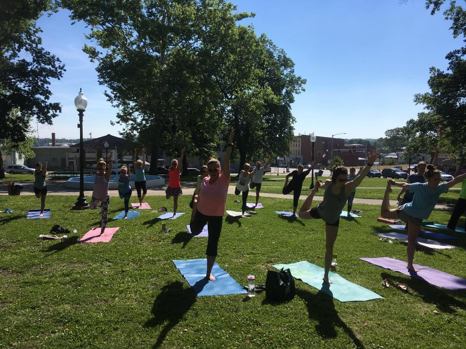October 14th: Twisted Juniper Community Yoga Class  - 9:00-10a at Twisted Juniper or in Hannibal's Central Park. Call (573) 719-8545 for more info.