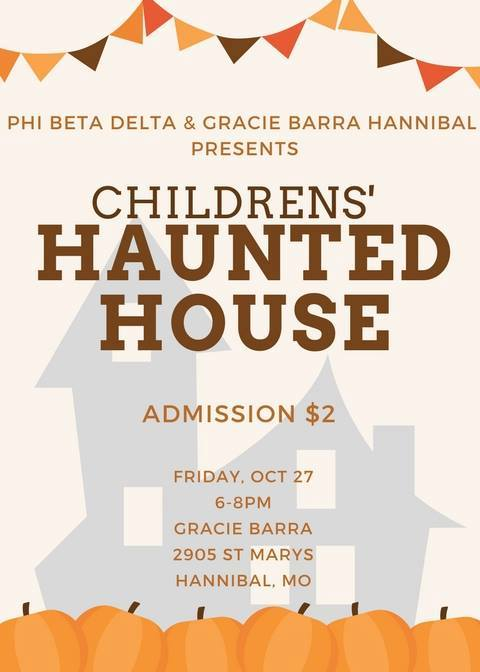 Children's Haunted House - October 27th from 6-8pm at Gracie Barra.