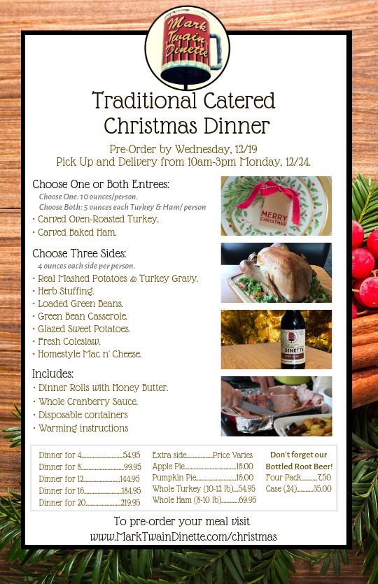 Catered Christmas Dinner Hannibal, MO 63401