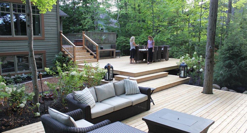 woodland cedar deck