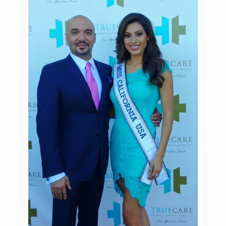 Dr. Farzaneh and I at the grand opening of True Care when I was Miss CA USA 15.