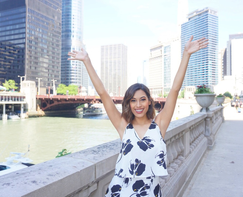 """I feel like """"hands in the air"""" should be my signature pose! This was one of my favorite views of the river and I'm clearly excited."""