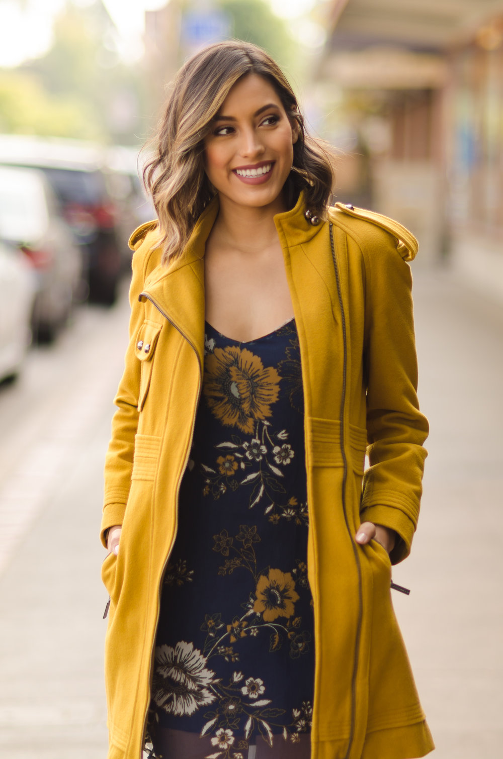 Coat:  Vertigo USA  Dress:  Kendall and Kylie PacSun Shoes:  UNNOWN Photos by  Miguel Chavez